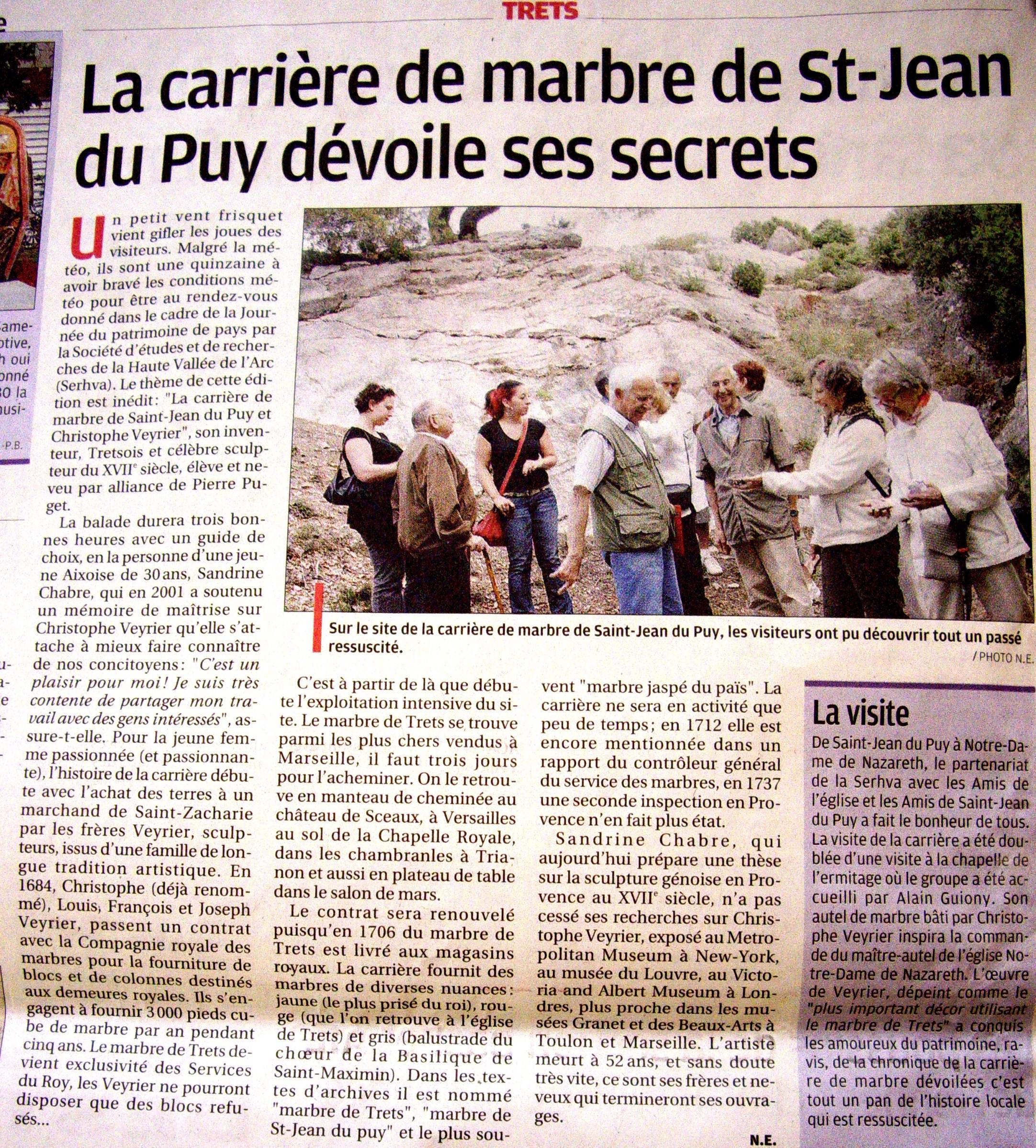 2010.06.23 - La Provence - carrière